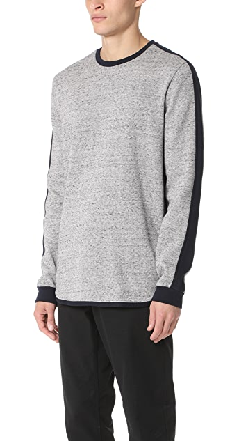 Scotch & Soda Crew Sweater with Sleeve Panel