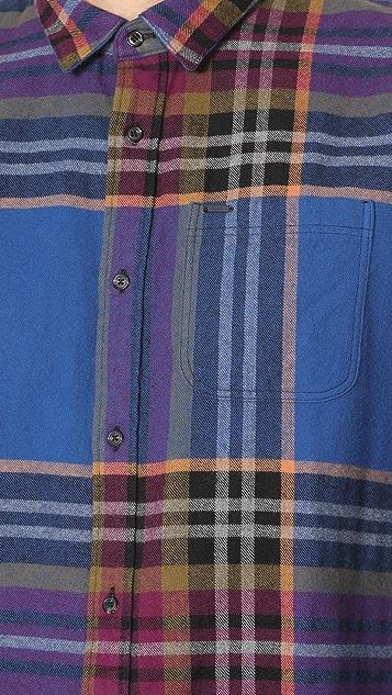 Scotch & Soda Multi Check Long Sleeve Shirt