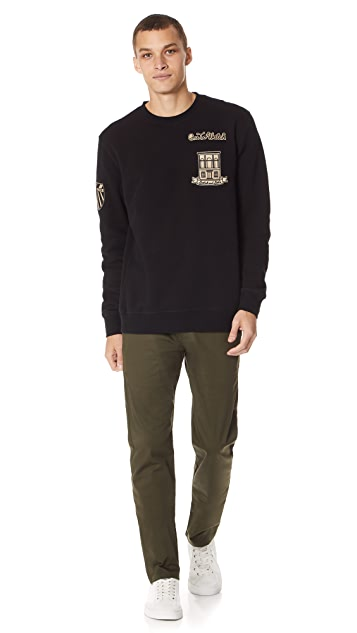 Scotch & Soda Crew Neck Sweat with Patches