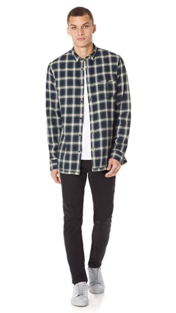 Scotch & Soda Long Sleeve Check Shirt