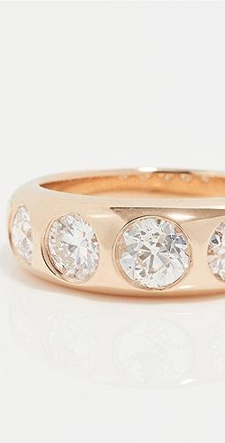Single Stone - 5 宝石钻石 Dallas 戒指