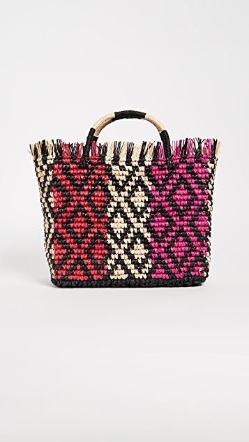 Canasta Multicolor Straw Tote by Sensi Studio