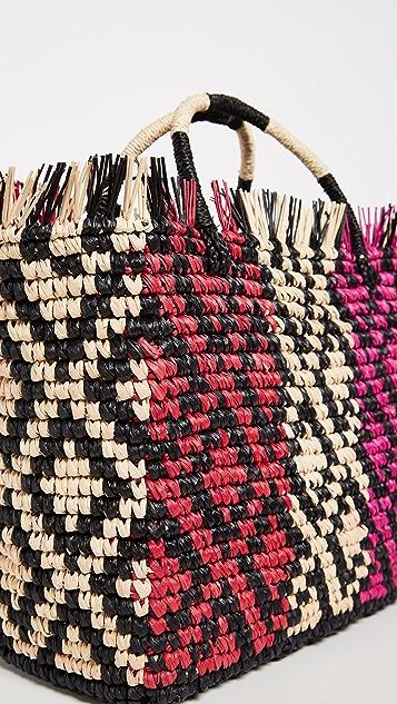 Sensi Studio Canasta Multicolor Straw Tote