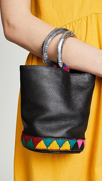 Sensi Studio Mini Leather Bucket Bag
