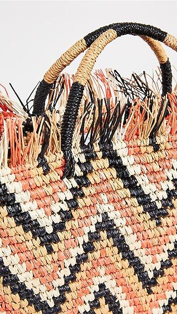 Sensi Studio Объемная сумка с короткими ручками Canasta в зигзагообразную полоску