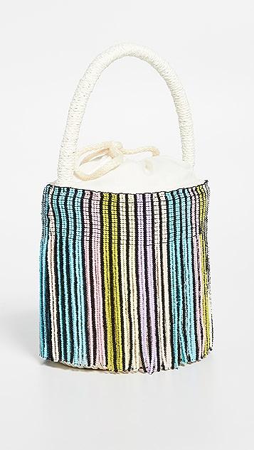 Sensi Studio Миниатюрная сумка-ведро с бусинами