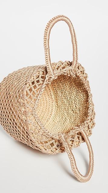 Sensi Studio Straw Netted Bucket Bag