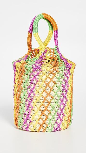 Sensi Studio Neon Straw Netted Bucket