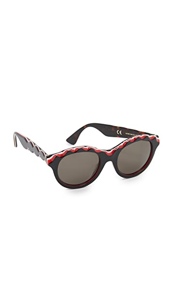 Super Sunglasses Mona Zigzag Sunglasses