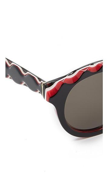Super Sunglasses Mona Zigzag Sunglasses