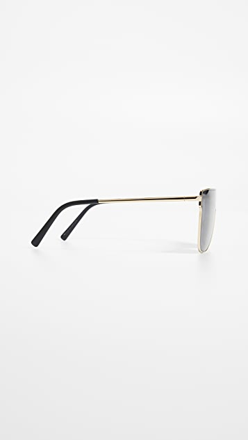 Super Sunglasses Lenz Flat Top Sunglasses