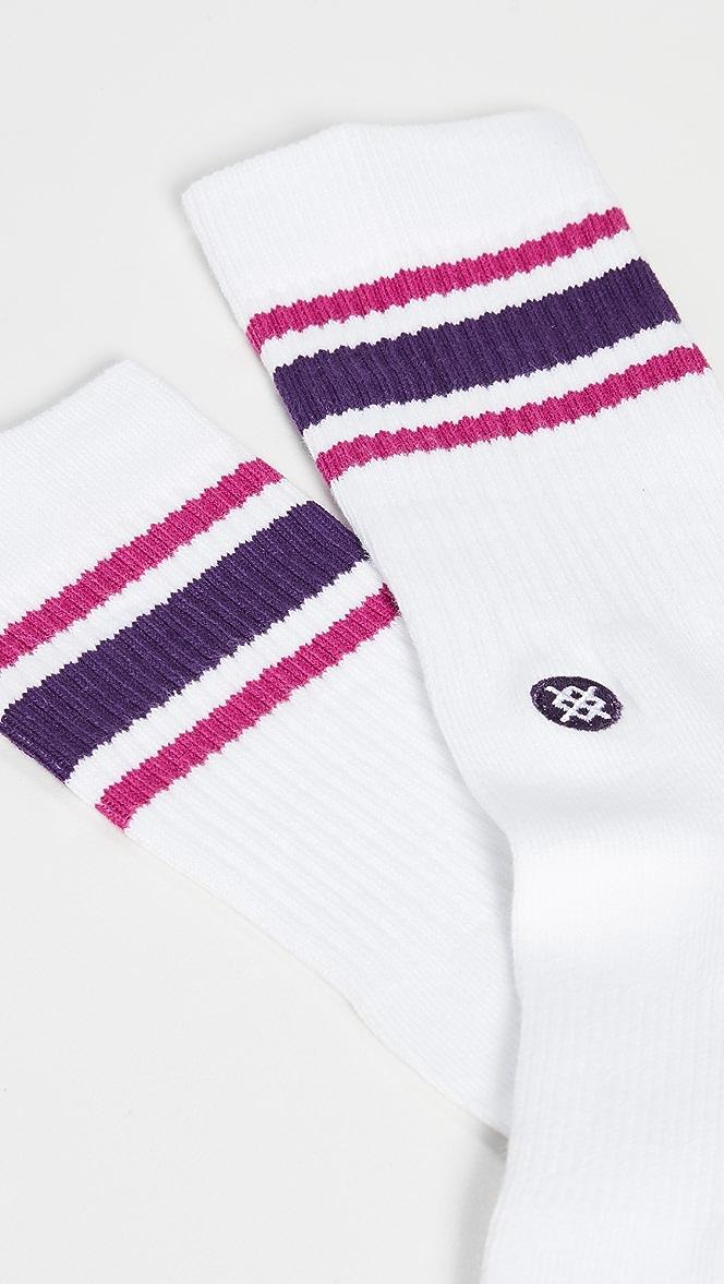 Stance Boyd 4 Crew Socks in Purple