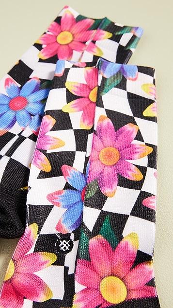 STANCE Носки до середины голени Crazy с цветочным рисунком