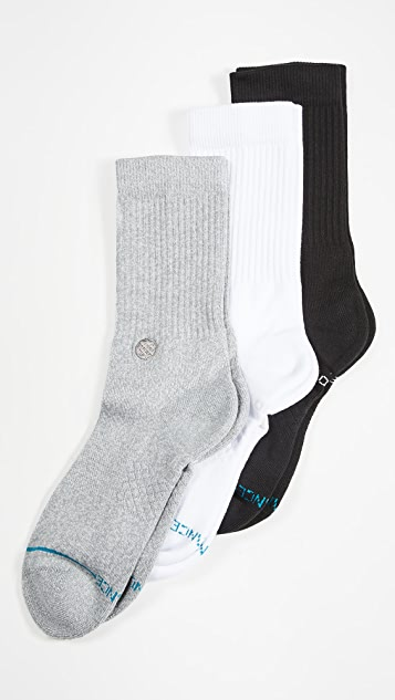 STANCE Icon 3 Pack Crew Socks