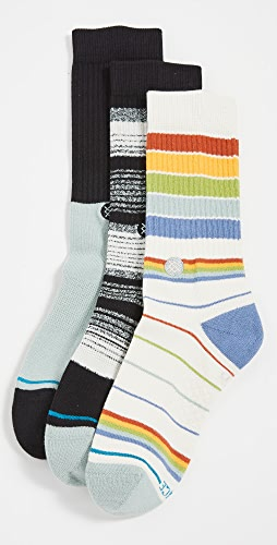 STANCE - Badwater 3 Pack Crew Socks