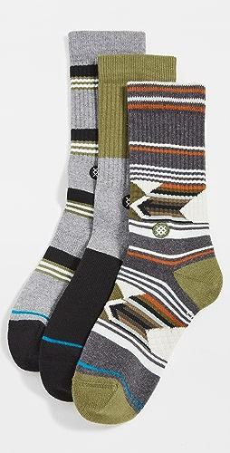 STANCE - Grand 3 Pack Crew Socks