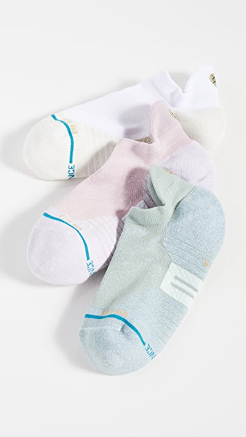 STANCE Infiknit Vertical 3 Pack Tab Ankle Socks
