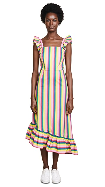 STAUD Valentina Stripe Dress
