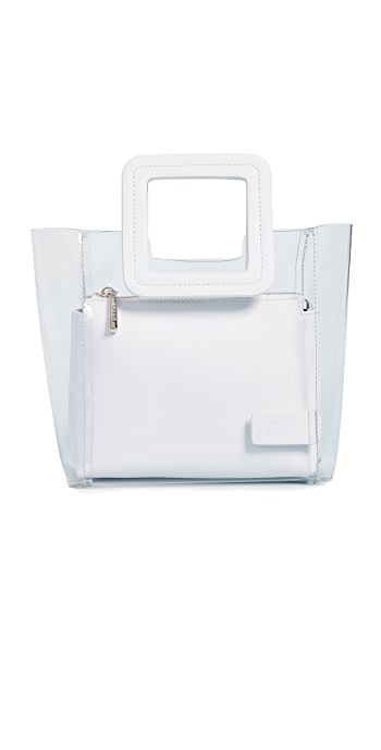 STAUD Mini Shirley Bag - Clear/White