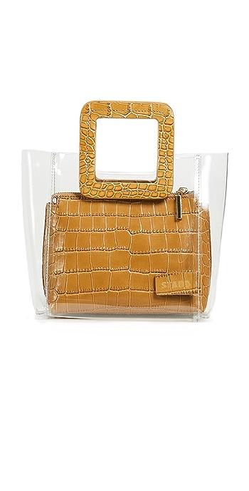STAUD Mini Shirley Bag - Clear/Tan
