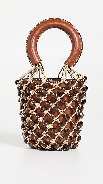 STAUD Миниатюрная сумка Moreau с бусинами