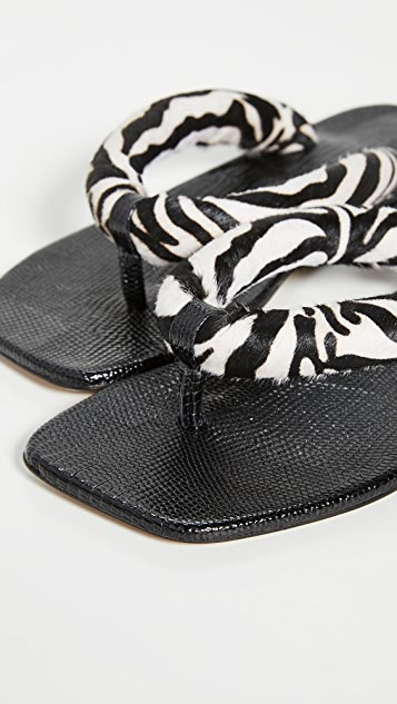 STAUD Rio 夹趾凉鞋