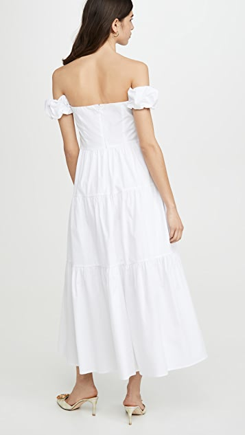 Staud Elio Dress White