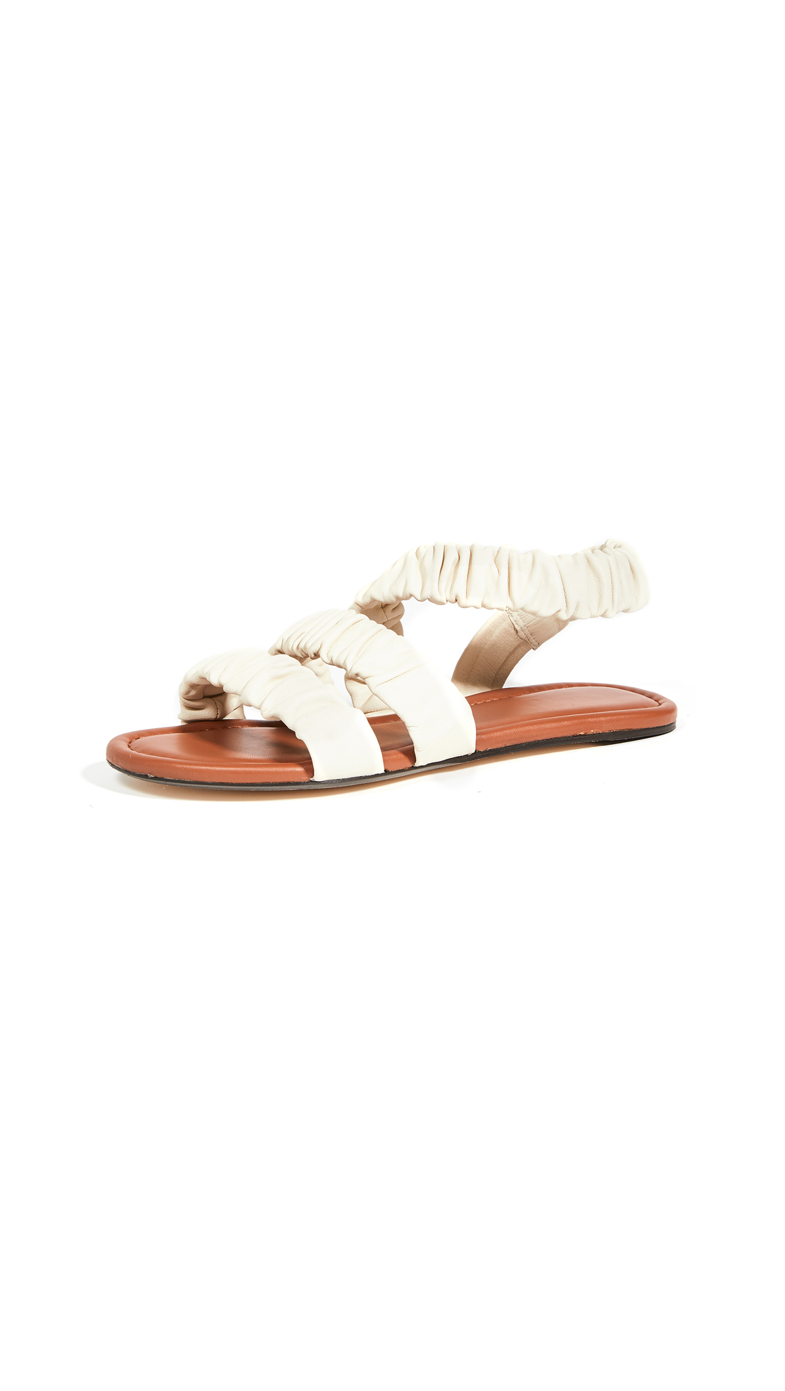 STAUD Ellie Ruched Sandals