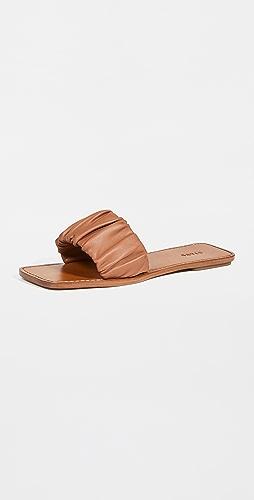 STAUD - Nina 抽褶凉拖鞋