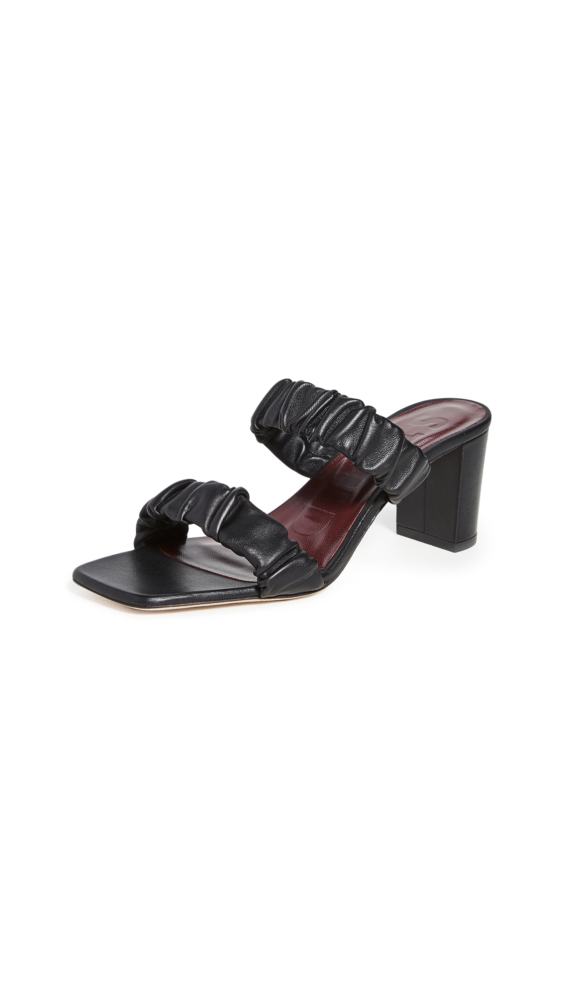 STAUD Frankie Ruched Sandals