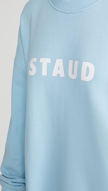 STAUD Crew Neck Logo Sweatshirt