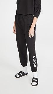 STAUD 徽标运动裤