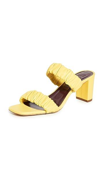 STAUD Frankie Ruched Sandals