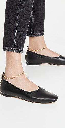 STAUD - Maeve 踝链平底鞋