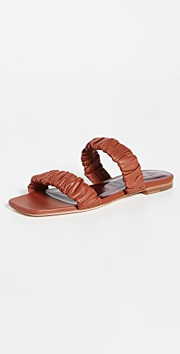 STAUD - Maya Ruched Sandals
