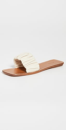 STAUD - Nina Ruched Sandals