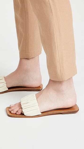 STAUD Nina 抽褶凉鞋
