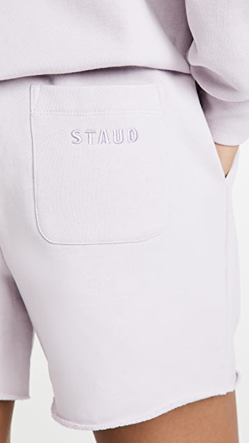 STAUD Drawstring Sweatshorts