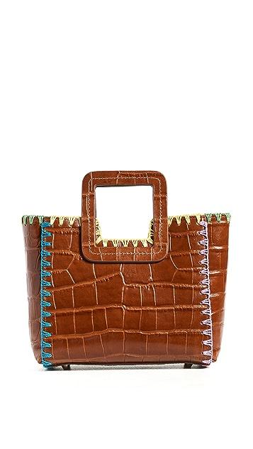 STAUD Mini Shirley Crochet Edge Bag