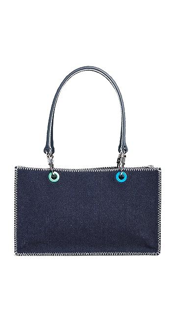 STAUD Gemma Denim Shoulder Bag