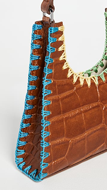 STAUD Mini Rey Crochet Edge Bag