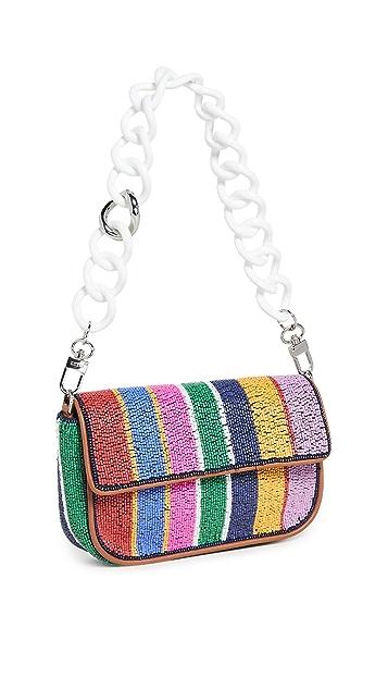 STAUD Beaded Mini Tommy Chain Bag