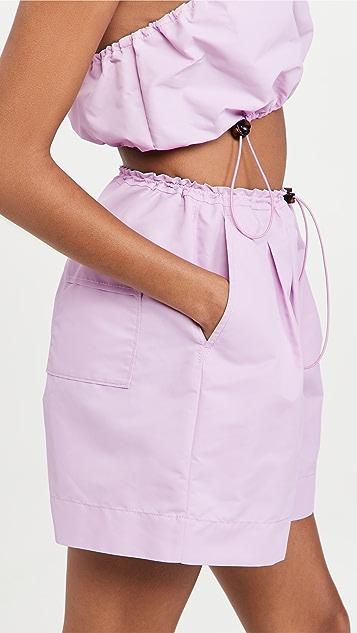 STAUD Coconut Shorts
