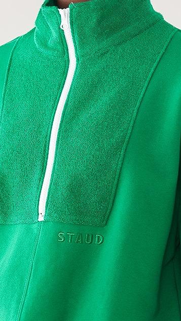 STAUD Zip Up Sweatshirt