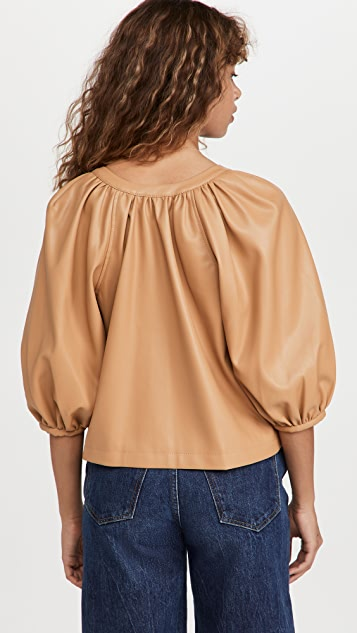STAUD New Dill Faux Leather Top