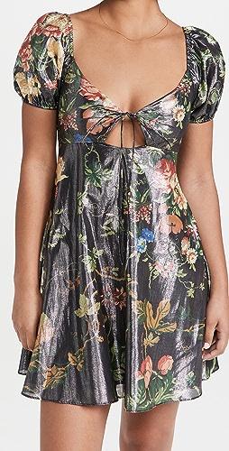 STAUD - Mini Metallic Camilla Dress