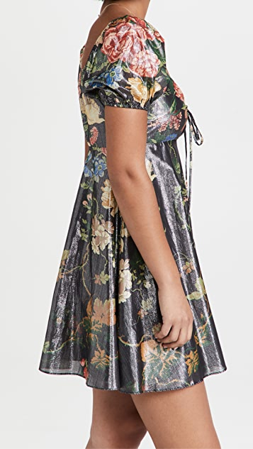 STAUD Mini Metallic Camilla Dress