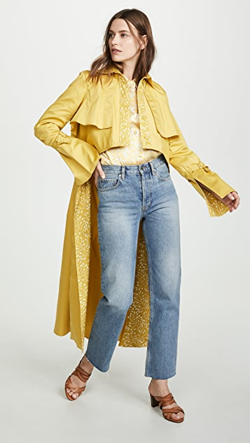 Silvia Tcherassi Sidney High Low Trench Coat