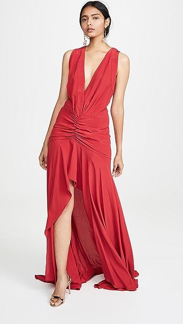 Silvia Tcherassi V Neck Gown