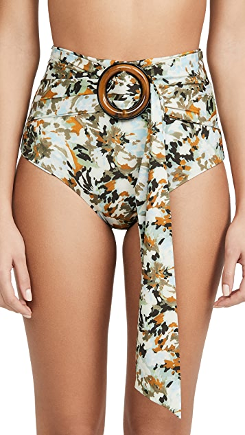 Silvia Tcherassi Hoshiko High Waisted Bikini Bottoms